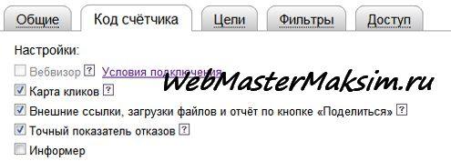 Точный показатель отказов от Яндекс Метрика