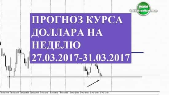 Прогноз курса доллара на неделю 27.03.2017-31.03.2017