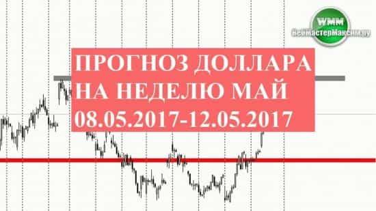 Прогноз доллара на неделю май 08.05.2017-12.05.2017
