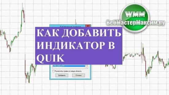 Как добавить индикатор в Quik, установить его так, чтобы было удобно!