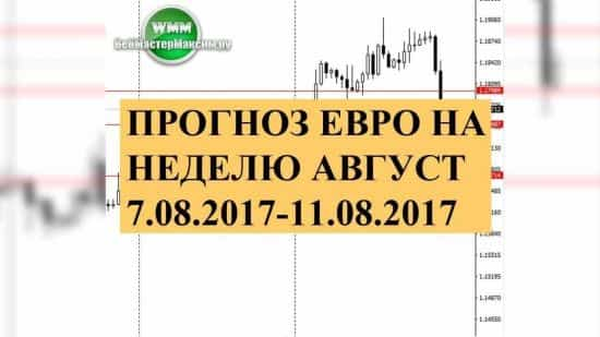 Прогноз евро на неделю август 7.08.2017-11.08.2017. Аналитики против уровней!