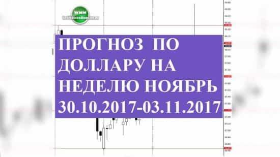 Прогноз по доллару на неделю ноябрь 30.10.2017-03.11.2017. Вероятности этого периода