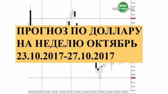 Прогноз по доллару на неделю октябрь 23.10.2017-27.10.2017. Хочу торговать на повышение