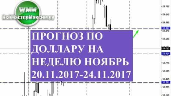 Прогноз по доллару на неделю ноябрь 20.11.2017-24.11.2017. Есть вероятности