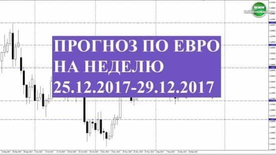 Прогноз по евро на неделю 25.12.2017-29.12.2017. Надежда на бычков