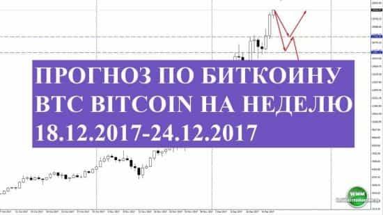 Прогноз по биткоину BTC bitcoin на неделю 18.12.2017-24.12.2017. Ракета на дозаправку?