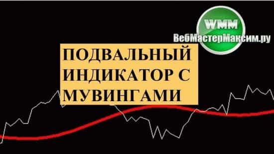 Подвальный индикатор с мувингами. С ним можно спокойно спать в азиатскую сессию