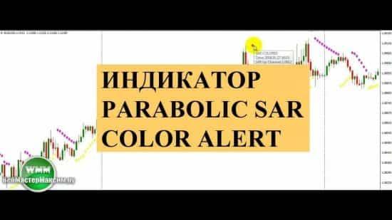 Индикатор Parabolic SAR Color Alert или цветной пароболик сар с алертом (звуком)