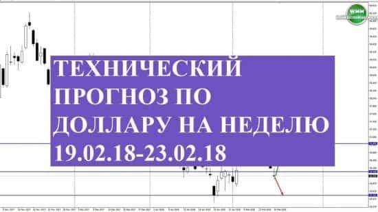 Технический прогноз по доллару на неделю 19.02.18-23.02.18. Внезапно все изменилось!