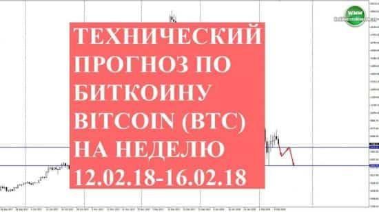 Технический прогноз по Биткоину Bitcoin (BTC) на неделю 12.02.18-16.02.18. Ни дать ни взять «бурильная установка»