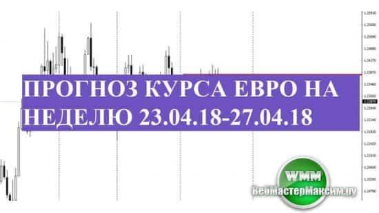 Прогноз курса евро на неделю 23.04.18-27.04.18. Есть запас хода!