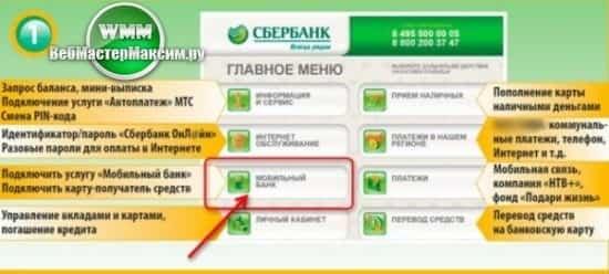 Изменить тариф в мобильном банке
